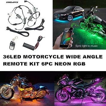 Auto Beleuchtung | Auto Motorrad Unterbodenbeleuchtung 6 Streifen 18 Farbige Rgb Led