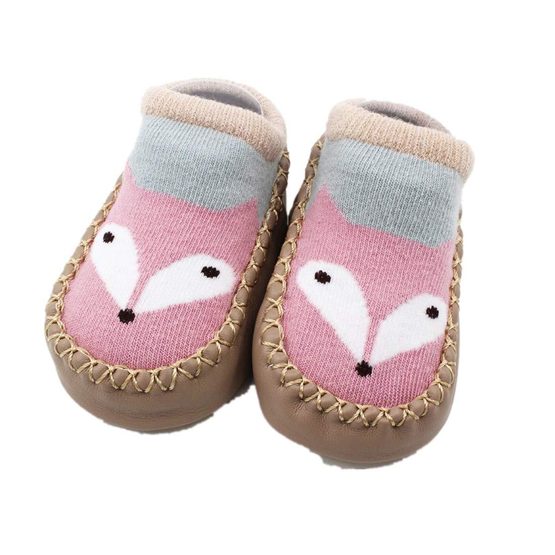 ❤️Amlaiworld Cartoon Toddler Enfants B/éb/é Anti-d/érapant Sock Chaussures Bottes Pantoufle Chaussettes pour 0-4Ans