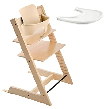 Stokke TRIPP TRAPP with Baby Set and Tray - Natural  sc 1 st  Amazon.com & Amazon.com : Stokke TRIPP TRAPP with Baby Set and Tray - Natural : Baby