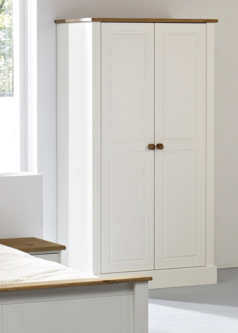 balmoral white wardrobe 2 door white double wardrobe amazoncouk kitchen home - White Wardrobe