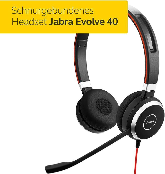 Jabra Evolve 40 Uc Stereo Headset Unified Elektronik