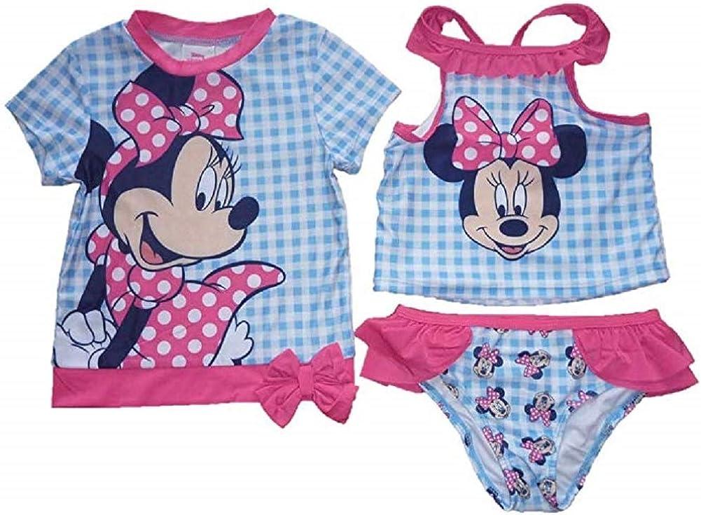 Disney Junior Minnie Mouse Toddler Girls Size 2T Coverup Tankini Set 3 Piece
