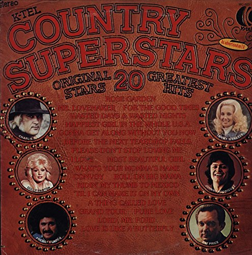 Various - Country Superstars - 20 Greatest Hits - K-Tel - WC 323 - Canada - - Near Mint (NM or M-) - Very Good Plus (VG+) - (Tom T Hall Greatest Hits)