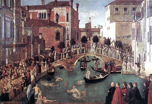 Cross Lorenzo - Gentile Bellini Miracle of the Cross at the Bridge of San Lorenzo - 18.05
