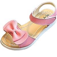 Gaorui Girls' Sandals Open Toe Lace Ballet Flats Sandal Bow Dress Princess Shoe