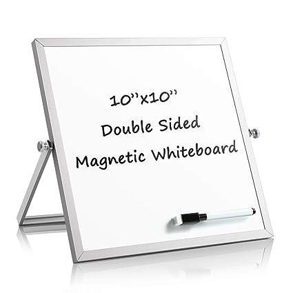 Caballete magnético de escritorio de 10 x 10 pulgadas ...
