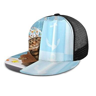 Inaayayi Gorra de béisbol con diseño de Gato con Toalla de Pato y ...