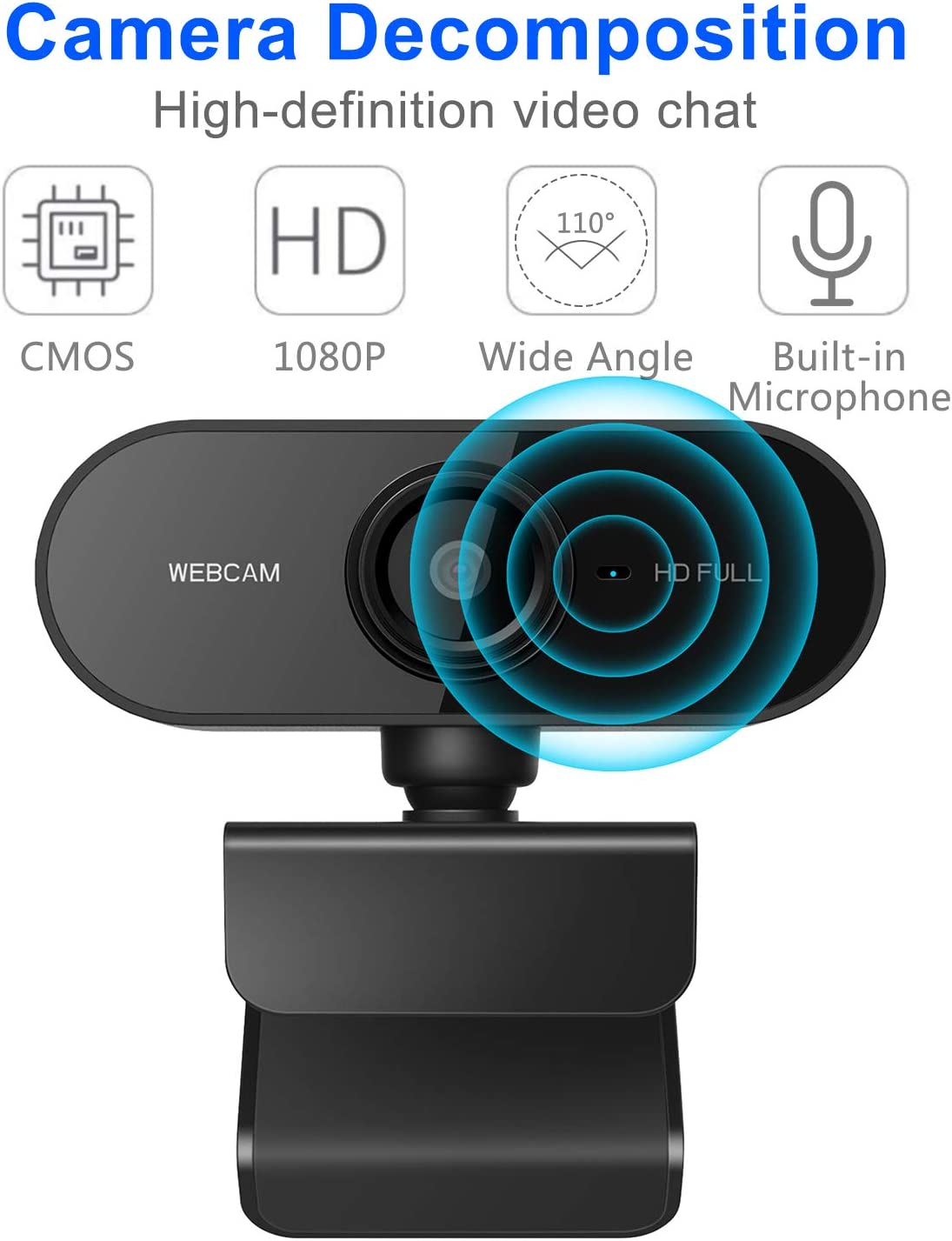 alpha-ene.co.jp Webcam with Microphone Laptop Web Camera for Video ...