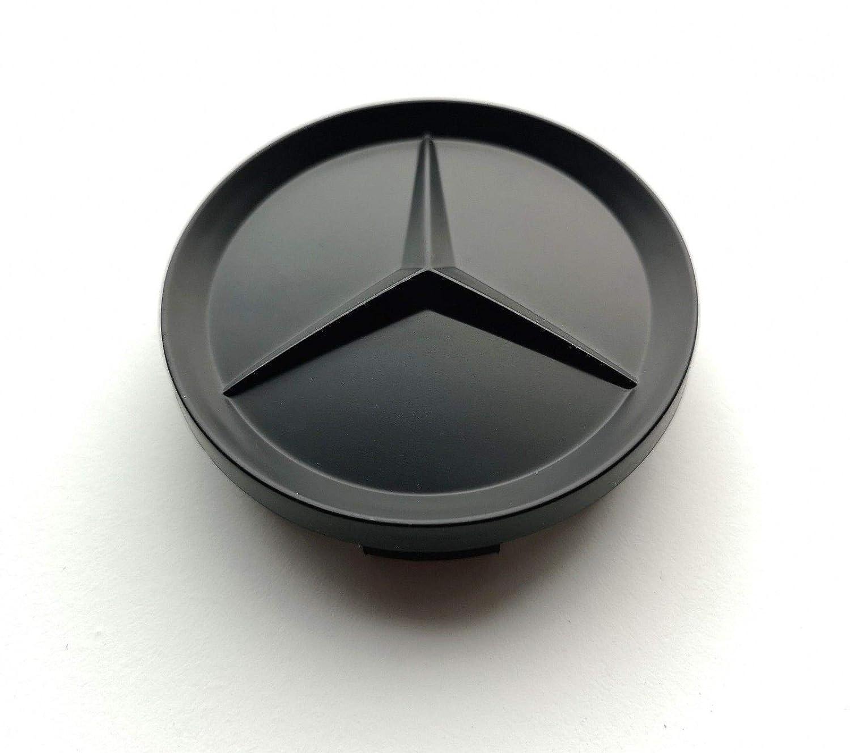 Felgendeckel MB Copricerchione Mercedes Benz 4 x 64 mm coprimozzo coprimozzo Nero coprimozzo