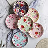 BTaT- Dessert Plates, 8 inch, Set of 6, Porcelain