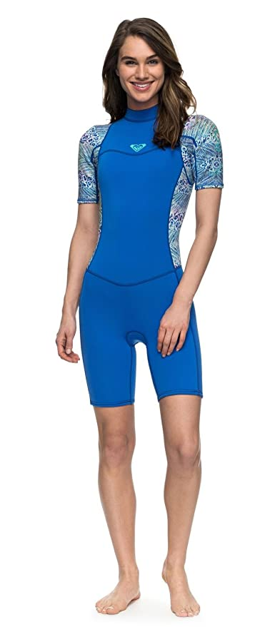 e4490d6977 Image Unavailable. Image not available for. Color  Roxy 2mm Syncro Series  Short Sleeve Back Zip FLT Springsuit - Women s ...
