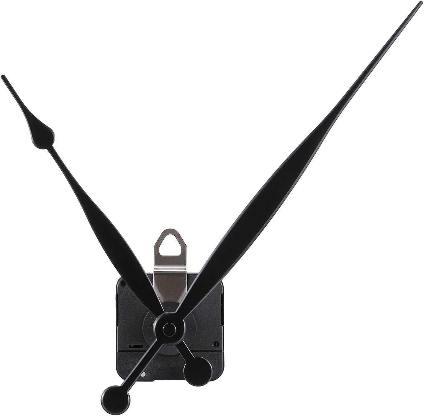 Mudder Movimiento de Reloj de Eje Largo y Par Alto con 2 Agujas a Convenir a Esfera hasta 51,6 cm/ 20 Pulgadas en Diámetro