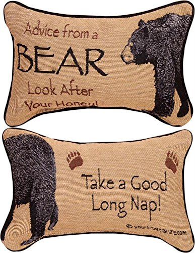 Manual The Lodge Collection Reversible Throw Pillow, 12.5 X 8.5-Inch, Advice from a Bear X Your True Nature ()