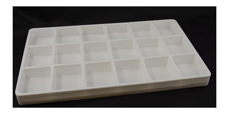 3 x blanco dieciocho compartimiento Heavy-duty plástico Bandejas apilables luz peso: Amazon.es: Bricolaje y herramientas