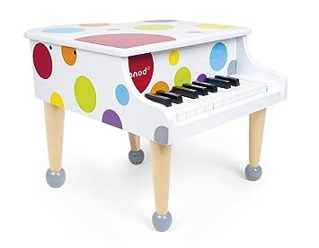 Janod j07627 piano à queue confetti bois: amazon.fr: jeux et jouets
