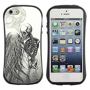 Suave TPU GEL Carcasa Funda Silicona Blando Estuche Caso de protección (para) Apple Iphone 5 / 5S / CECELL Phone case / / Love Couple Heart Funny Skeleton /