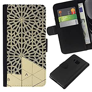 All Phone Most Case / Oferta Especial Cáscara Funda de cuero Monedero Cubierta de proteccion Caso / Wallet Case for HTC One M9 // Art Handicraft Carving Lace