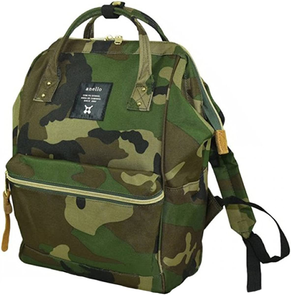 Japan Anello Backpack Unisex MINI SMALL CAMO Rucksack Waterproof Canvas Campus Bag