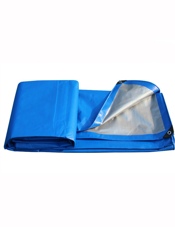 PIPIXIA PE Camping Plane Regen Plane mit Wasserdichten Sonnenschutz Kunststoff Poncho für Autos Zelte Picknicks Dachdeckungen Blau Silber 12 Mil Multi-Optional