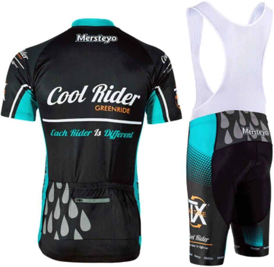 YSYFZ Maillot de Sport pour Hommes de Plein Air Costume Cyclisme Maillot de Sport à Manches Courtes Jersey + Short Respirant et séchage Rapide