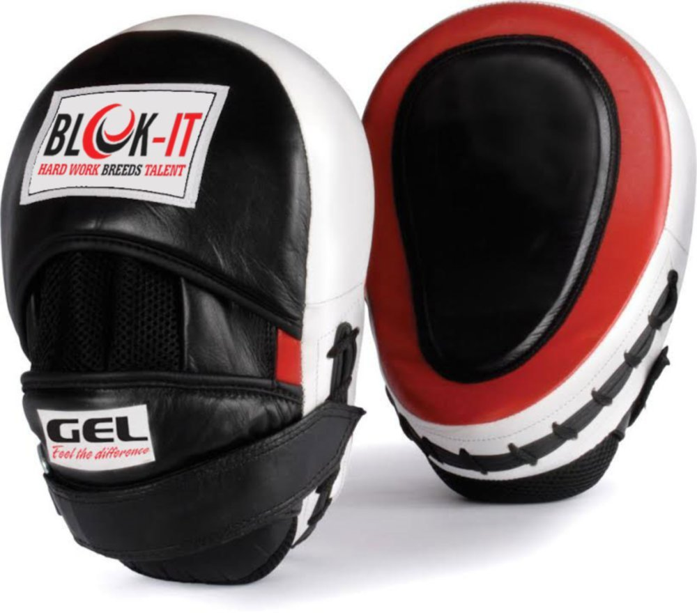 Manoplas Boxeo con GEL : Por BLOK-iT (Rojo) FocusMitts2000