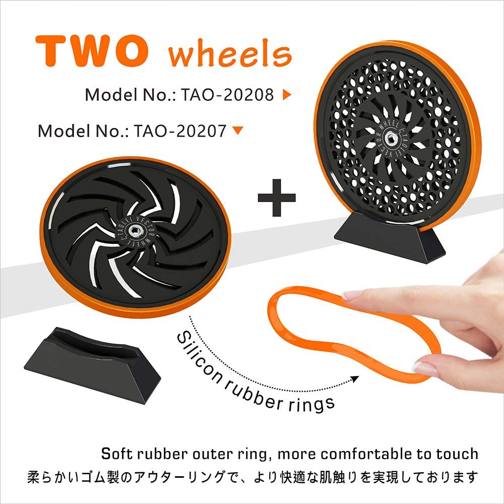 Fingertip Toy Office Wheel Spinner Gyroscope with Optical Illusion for Anti-Anxiety Stress Relieve Inspire Inner Creativity TAOLEI TAO-20201-2 Orange
