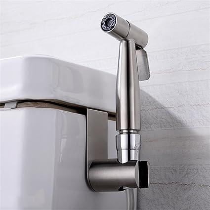 Premium Stainless Steel Hand Held Bidet Spray Combo   Brass Chrome Toilet  Sprayer W/ Metal Hose ...