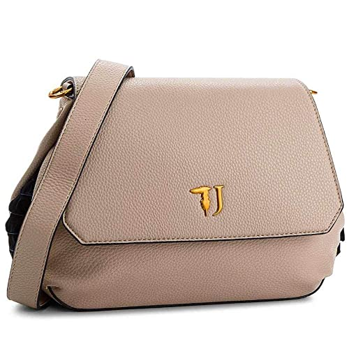 03703f2457 Trussardi Jeans Lavanda Shoulder Bag, Women's, Beige, 28x20x9 cm (W x H L