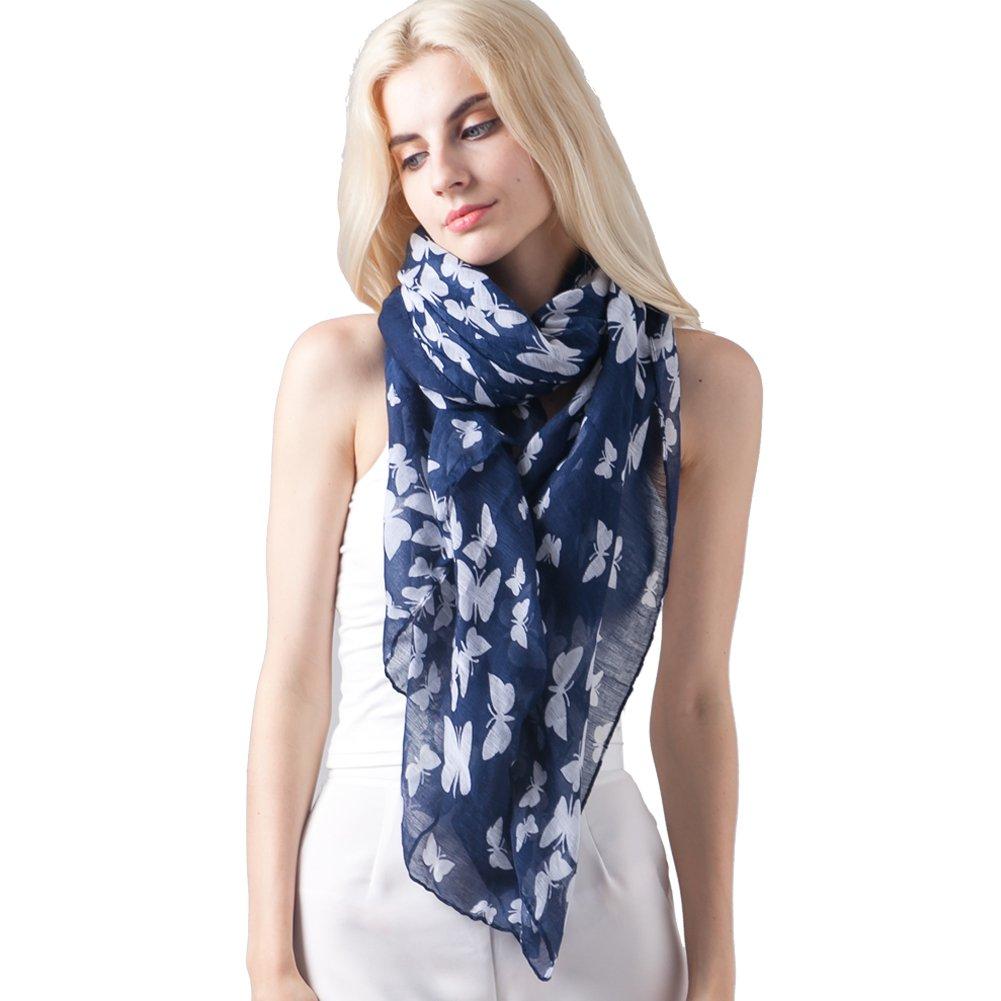 Butterfly Scarves for Women Fashion Shawl Wrap by MissShorthair BCF201607-8LG