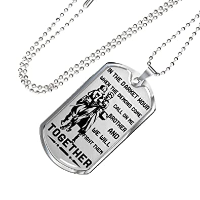 AZ Gifts Japanese Fan Anime Manga To My Brother Dog Tag Chain