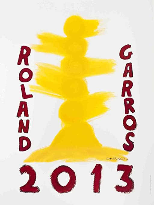 David Nash-Roland Garros  French Open-2013 Offset Lithograph-SIGNED