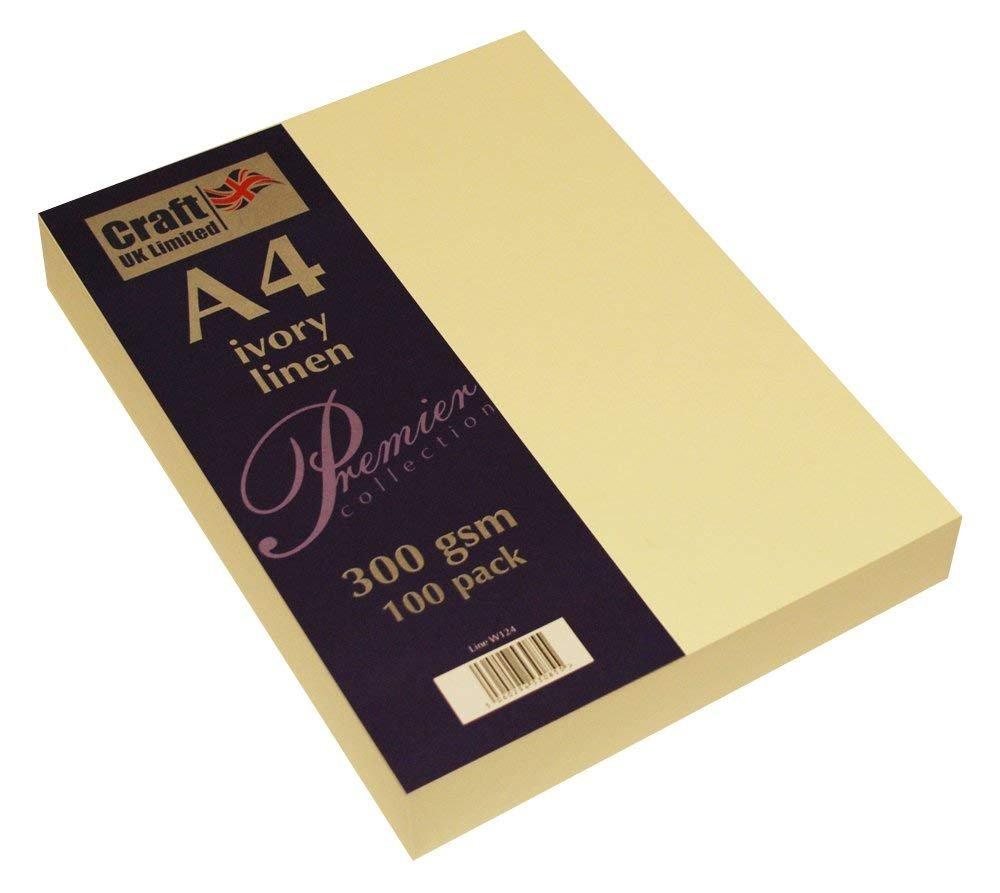 Craft UK UK UK Karte A4 ivory weiß, Leinen glatt 100 bis 500 Blatt, 300 gsm (2 Packungen Elfenbein Leinen) B07FST9B32 | Um Sowohl Die Qualität Der Zähigkeit Und Härte  e03f3d