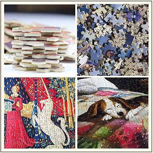Puzzles for Kinder 500 Stück, Gras drei Hunde, Diy Holzspielzeug Puzzle-Spiele, Puzzle-Sets for Familien Merkwürdigkeiten, Stress Relief