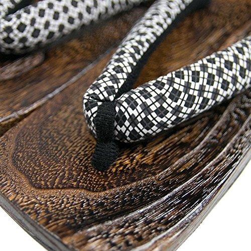 eceae7e575b lovely KYOETSU Men s Japanese Wooden Geta Sandals - promotion-maroc.com