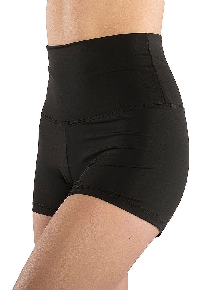 DanzNmotion by Danshuz Girl's High Waist Shorts S BLACK