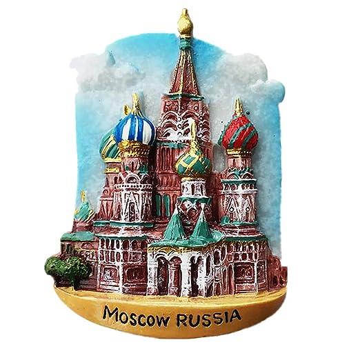 MUYU Magnet Imán para Nevera, diseño de Moscú Rusia 3D, colección ...