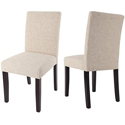 Merax WF015973 Classic Set of 2 Fabric Dining Chairs with Solid Wood Legs  sc 1 st  Amazon.com & Amazon.com - Merax WF015973 Classic Set of 2 Fabric Dining Chairs ...