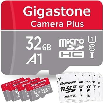 Gigastone Tarjeta de memòria Micro SDXC de 32GB con Adaptador(Clase 10, U1, UHS-I A1, 5 paquets).Lectura/Escritura Rendimiento hasta 90/20 MB/s. Proporcionar con Full HD Disponible.: Amazon.es: Electrónica