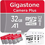 Gigastone 32GB 5-Pack Micro SD Card with Adapter, U1 C10 Class 10 90MB/s, Full HD Available, Micro SDHC UHS-I Memory Card