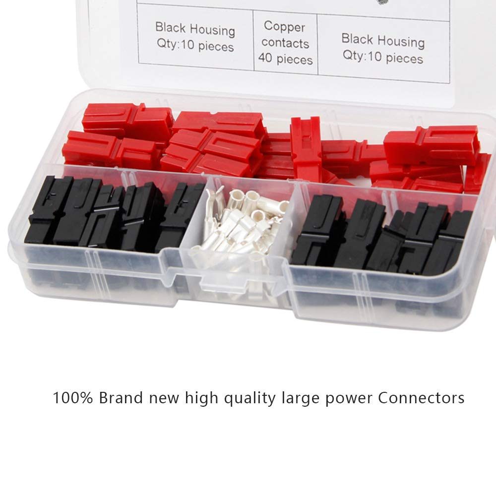 WarmCare 80pcs Anderson Powerpole Quick Disconnect 30Amp Power Terminals Connectors Battery Plug