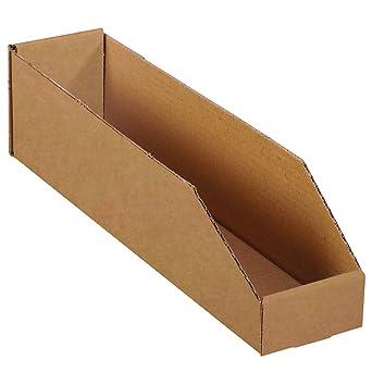"6 x 9 x 4 1//2/"" Corrugated OPEN TOP CARDBOARD STORAGE Parts Bin Bins Boxes Depth"