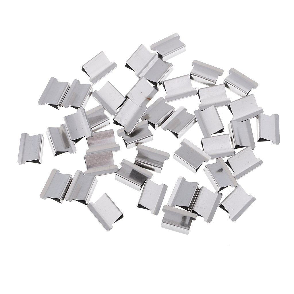Homyl 40 Pieces Refill Clips Paper Clips Push Clamps Trumpet Paper Holder Saving Paper Holder for Office