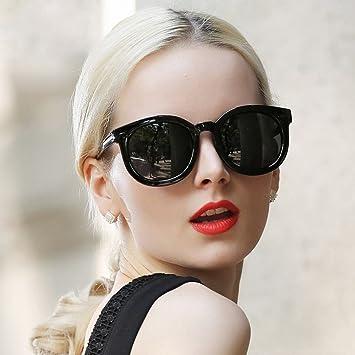 1ec1944647 AN Gafas de Sol polarizadas Mujeres Cara Redonda Marco Grande película de  Color Gafas de Sol Moda Personalidad Gafas de Sol Marco Redondo,Segundo,Un  tamaño: ...