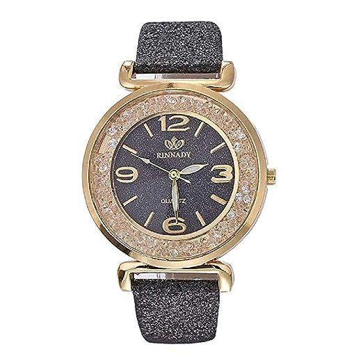 Scpink Relojes de Mujer a la Venta Liquidación Prime Ladies Fashion Dress Relojes de Pulsera de Cuarzo con Correa de Cuero de Cristal Elegant Casual Analog ...