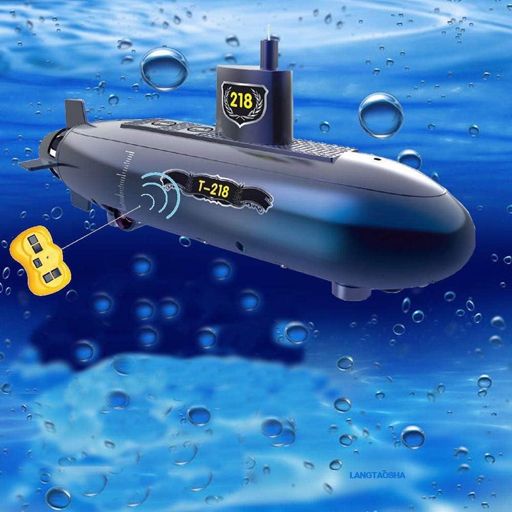 Wasserdichte RC Submarine-Funk-Fernbedienung Boot Spielzeug mit 3 LED-Leuchten