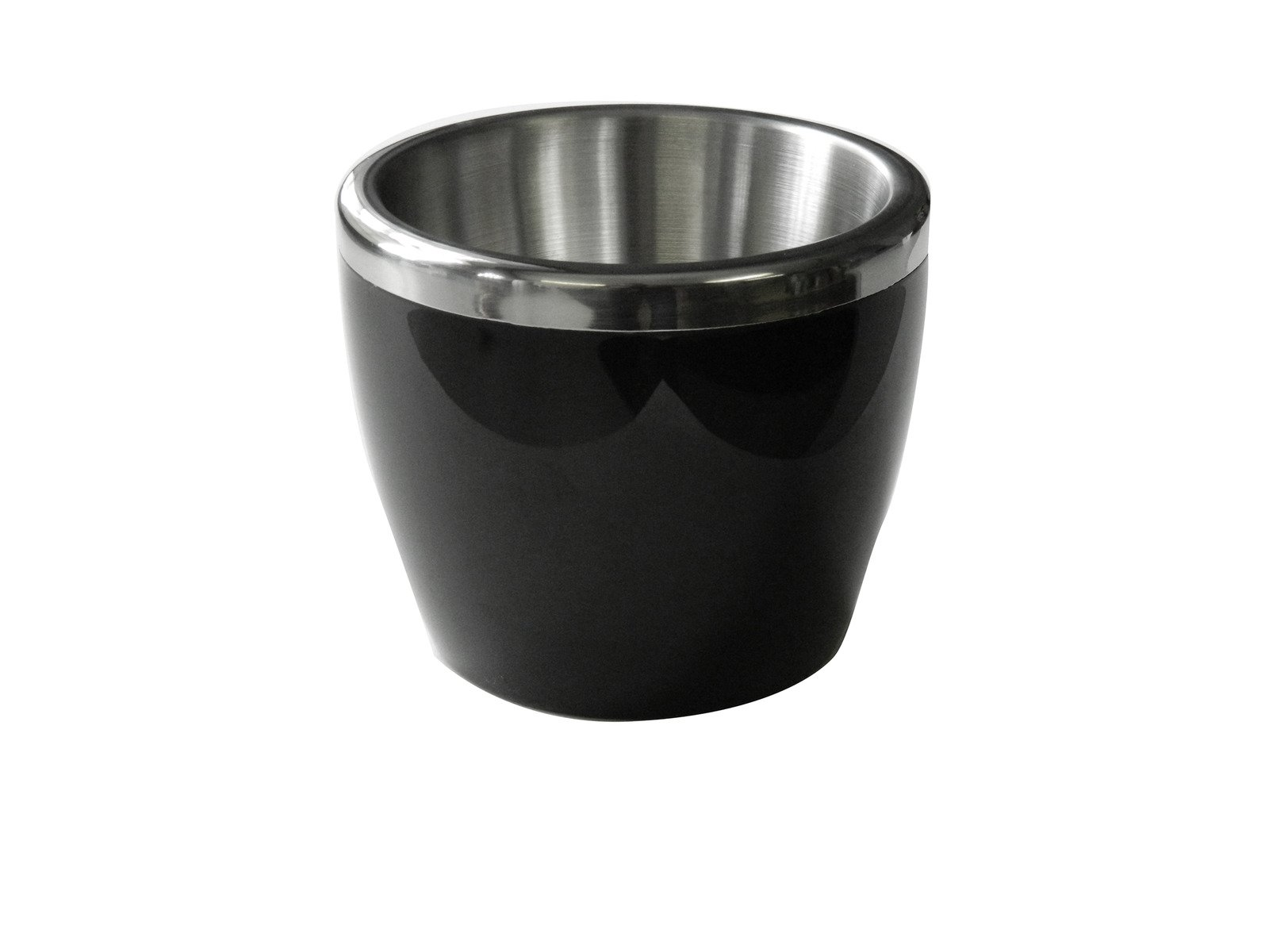 Small Black Ice Bucket Stainless Steel Rim and Lining Kitchen Gadgets Restaurant Bartending Cocktails