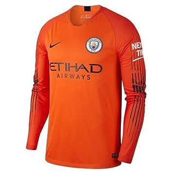 691e9a3da Nike 2018-2019 Man City Home Goalkeeper Shirt (Orange) - Kids ...