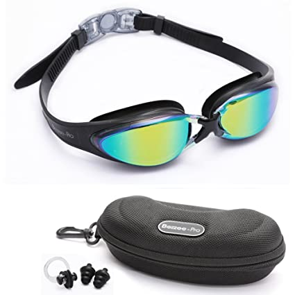 3d16d1e1f65c Bezzee-Pro Swimming Goggles for Adult Men and Women - UV Protected - Anti-