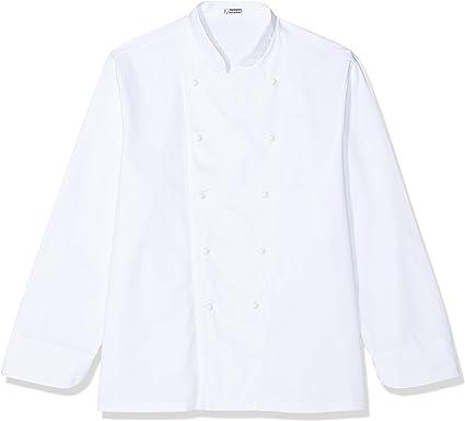 Chaqueta de cocinero básica, blanca, de manga larga: Amazon.es: Ropa y accesorios