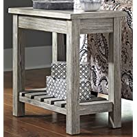 Veldar Whitewash Color Chair Side End Table